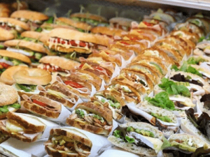 Sandwiches from the cafe