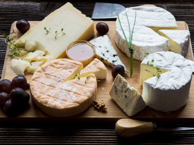 cheese platter from a delicatessen