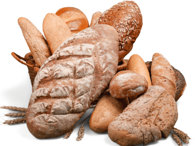 loaves of bread from a bakery